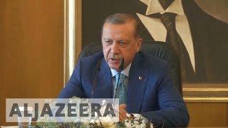 Turkey threatens further strikes on US-allied Syrian Kurds. Turkey's President Recep Tayyip Erdogan says his country may take further action against Kurdish ...