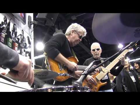 Living bass legend, Max Bennett takes cool to a new level at TC Electronic's booth at NAMM 2012.