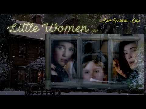 """Little Women 1994 Film - """"The Pickwick Society"""" (Color Enhanced Clips) HD"""