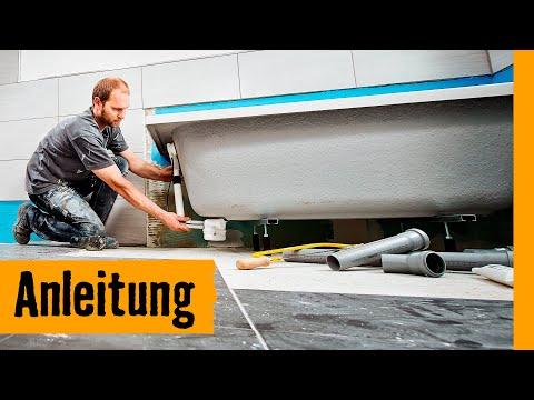 Badewanne einbauen: auf Wannenfüßen | HORNBACH Meisterschmiede