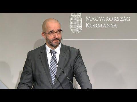 Kovács Zoltán kormányszóvivő pénteken Budapesten tartott sajtótájékoztatóján.