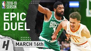 Kyrie Irving vs Trae Young DUEL Highlights Celtics vs Hawks 2019.03.16 - 30 Pts for Kyrie!