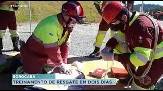 Sorocaba é sede de treinamento de resgate para atender ocorrências nas rodovias