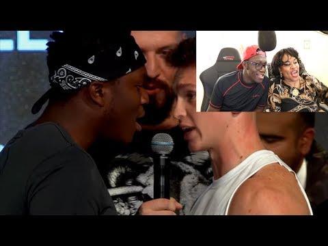 MY MUM REACTS TO KSI AND JOE WELLER FIGHT (видео)
