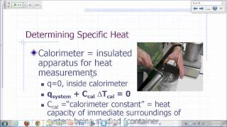 General Chemistry Lecture: Chemical Thermodynamics Part 1A