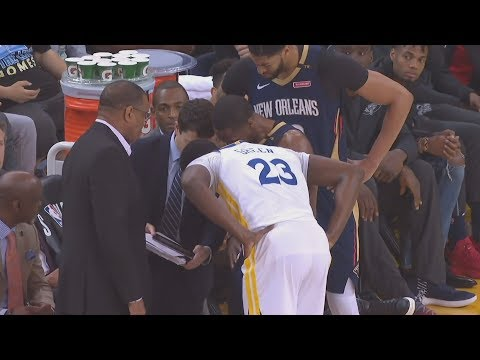 Warriors Advance! Draymond In Pelicans Huddle! 2018 NBA Playoffs