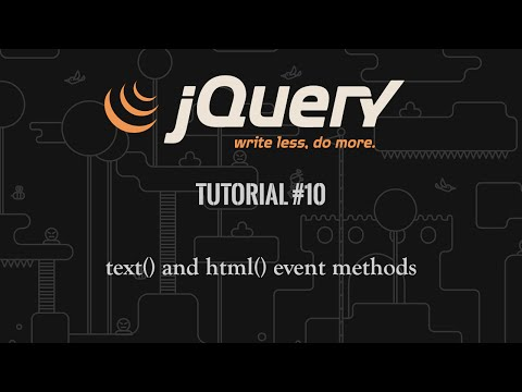 jQuery Tutorial 10: text() and html() (видео)