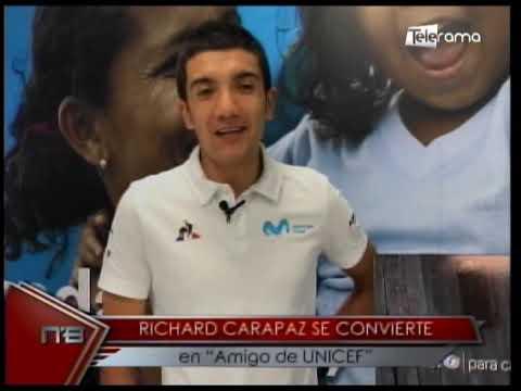 Richard Carapaz se convierte en Amigo de UNICEF
