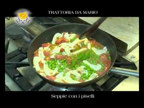 """Genova Gourmet, Trattoria Da Mario, video ricetta """"Seppie con i piselli"""""""