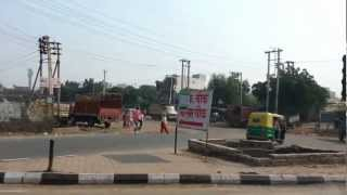 Faridabad India  City new picture : Being driven through Faridabad, the largest city of Haryana state in northern India