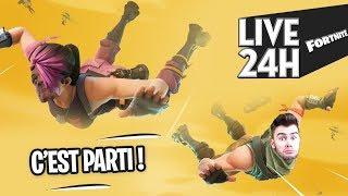 FORTNITE - LIVE 24h C'EST PARTI !!!! pt2