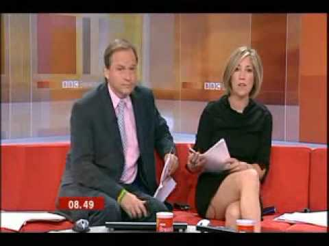 BBC News 24 Joanna Gosling skirt blooper