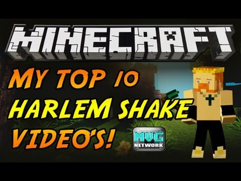 TOP 10 BEST MINECRAFT HARLEM SHAKE VIDEOS! BY KING JOJO