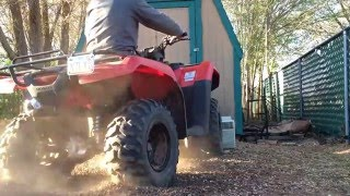 10. Vid #24 - front differential test, '16 Honda Rancher 420 4x4 DCT EPS
