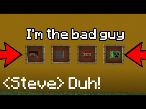 BAD GUY but every line of the song is a Minecraft item