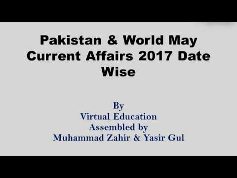 Pakistan & World May Current Affairs 2017 SBP YPIP 7th Batch and SBOTS 22 Batch