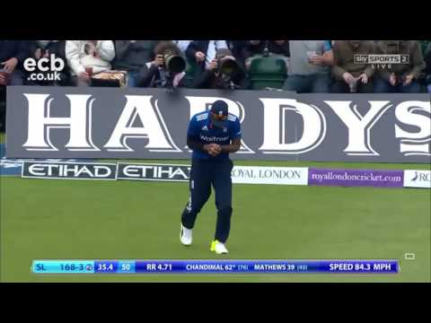 Young Sanath Jayasuriya taking a fantastic catch
