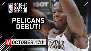Julius Randle Official Pelicans Debut Full Highlights vs Rockets 2018.10.17 - 25 Pts, 8 Reb, SICK!