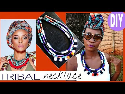 DIY Tribal (Ethnic) Neck Ropes Customized With African Print