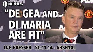 Rooney Is Remarkable! | Arsenal Vs Manchester United | Van Gaal Press Conference