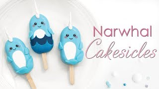 Narwhal Cakesicle - Kawaii Cake Popsicle Tutorial