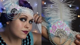 1920's flapper headband tutorial