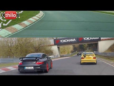 2x Megane RS + Porsche GT2 + GT3 RS - Nürburgring Nordschleife Easter 2015
