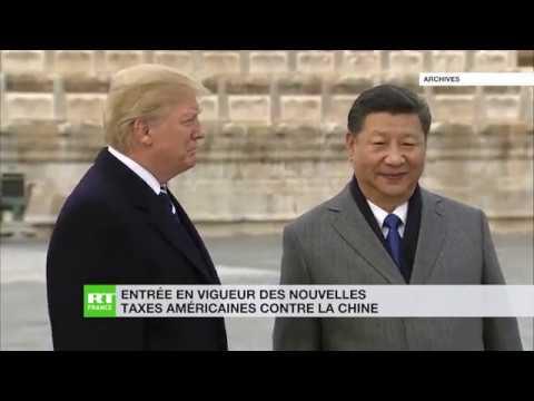 Entrée en vigueur des nouvelles taxes américaines contre la Chine