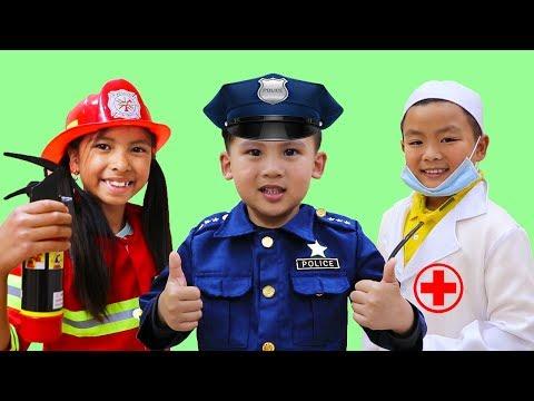 Canción de las Profesiones  | Wendy & Amigos Juegan a Bombero y Doctor| Canciones Infantiles