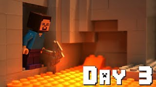 LEGO Minecraft Survival Day 3 (Stop Motion Animation)