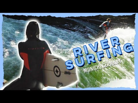 River Surfing in Munich, Germany