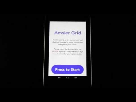Video of Amsler Grid