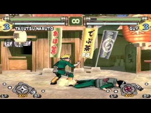Naruto Ultimate Ninja 2 Taijutsu Naruto moveset