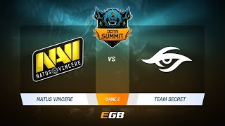 Natus Vincere vs Team Secret, Game 2, DOTA Summit 7 LAN-Final, Day 2