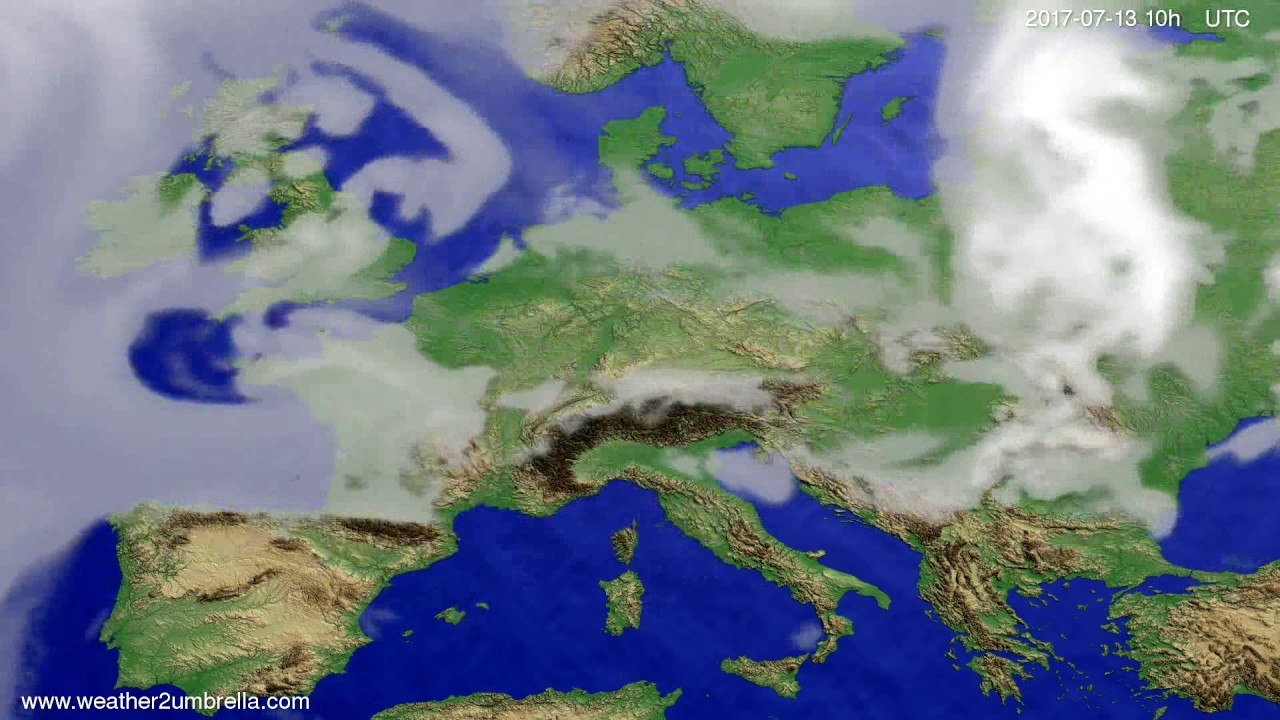 Cloud forecast Europe 2017-07-11