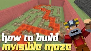 Minecraft Xbox 360/One: How to Build - Maze w/ Invisible Walls!
