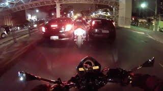 Hardkorowe nocne zapie*dalanie po ulicach na dwa motocykle!