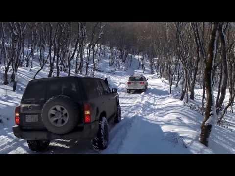 CLUB 4x4.AZ  Покатушка к озеру Нохурлар 09.02.2014(1) (видео)