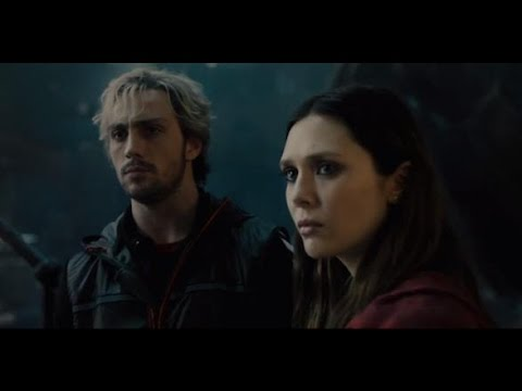 AVENGERS: AGE OF ULTRON – Elizabeth Olsen, Aaron Taylor Johnson, and Jeremy Latchham