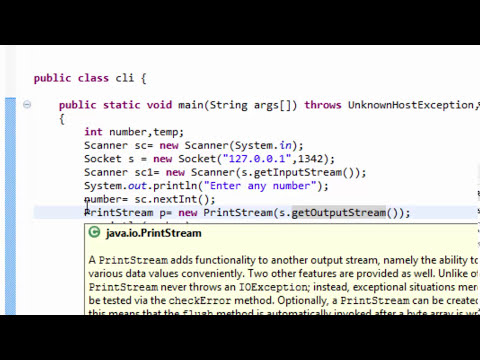 Client Server Program In Java Using Sockets