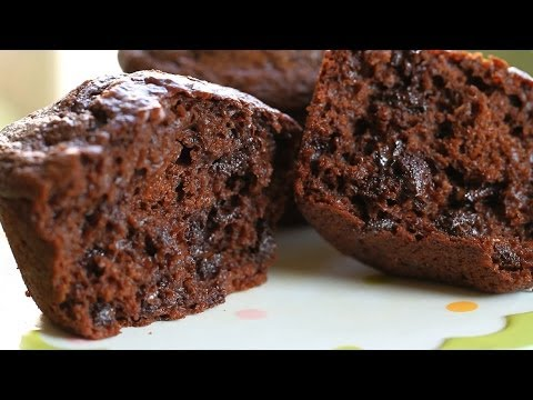 Double chocolate muffins recipe - no butter no oil