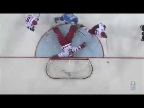Видео лучших моментов матча Казахстан - Польша на ЧМ по хоккею