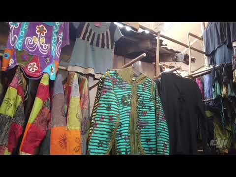 Hippy clothes stall at Anjuna market march 2019