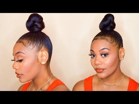 How To Top Knot Bun Using Braiding Hair Mp3 Download Naijaloyal Co