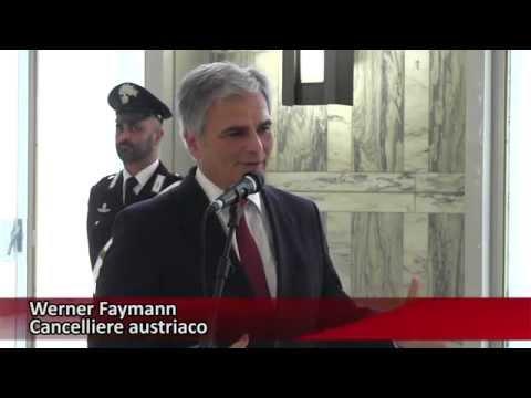 Incontro del ministro degli Esteri, Federica Mogherini con il Cancelliere austriaco Werner Faymann