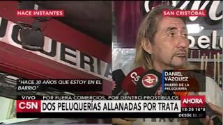 C5N - El Diario: Dos peluquerías allanadas por trata
