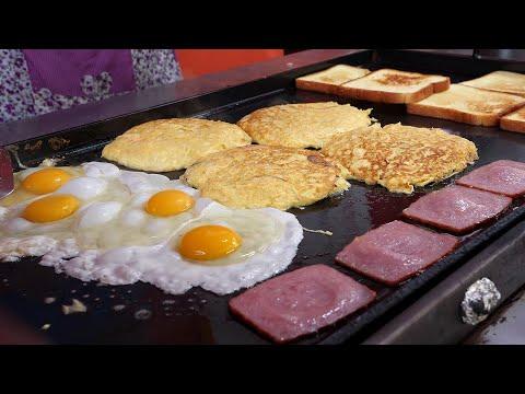 egg fried cheese toast 2,500KRW  korean street food