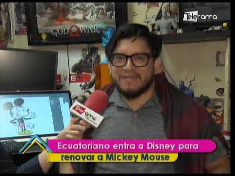 Ecuatoriano entra a Disney para renovar a Mickey Mouse