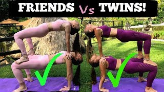 EXTREME YOGA CHALLENGE Twins vs Friends in BALI!