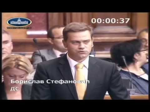 Борислав Стефановић на седници о амандманима на законе који се односе на рад државних службеника
